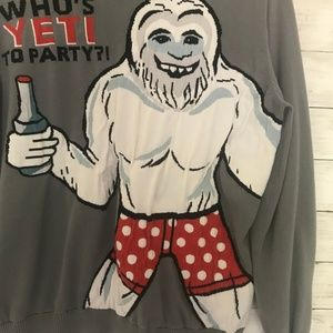 Sweaters - ↓$24 Men's 2X Whos YETI to party Sweater Christmas